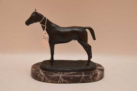 """Bronze Horse, Signed (after) """"""""isidore Bonheur"""""""", 7"""
