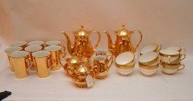 14pcs. German China, Gold Color And 11 Minton Tea Cups