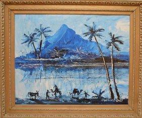 "Morris Katz [american, 1932-2010] """"tropical Scene,"""""