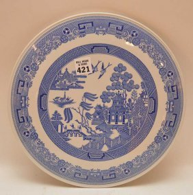 "Spode England ""willow"" Underplate, Blue And White"