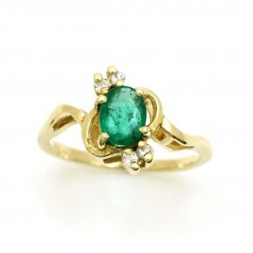 Emerald Diamond 14k Gold Ring