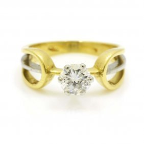 Diamond 18k Gold Solitaire Ring