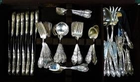 SET OF 91 ANTIQUE TOWLE STERLING SILVER FLATWARE