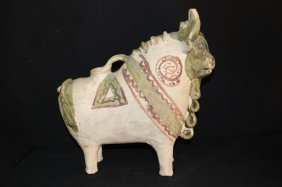 Mexican Ceramic Pottery Of A Bison