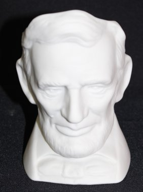 Parian Mug Of Abraham Lincoln William Maclean 1956