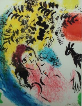 "Marc Chagall ""the Dream"" Lithographic Print"