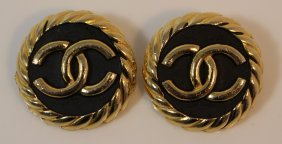 Pair Of Authentic Large Chanel Earrings