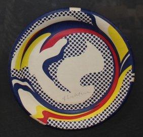 Roy Lichtenstein Screen Print Paper Plate