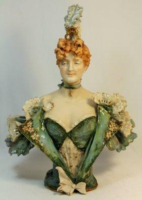 Rstk Turn Teplitz Art Nouveau Porcelain Woman