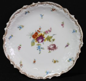 Vintage Hand Painted Marx & Gutherz Floral Plate