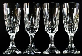 Four Crystal Baccarat Glasses
