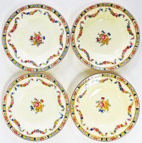 Set Of Minton Four Hand Painted Porcelain Bowls