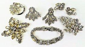 Assorted Vintage Rhinestone Costume Jewelry