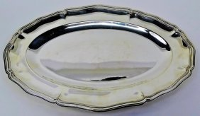 Large Oval Christofle Silver Platter
