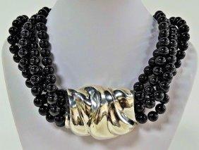 Rare Patricia Von Musulin Sterling Silver Necklace