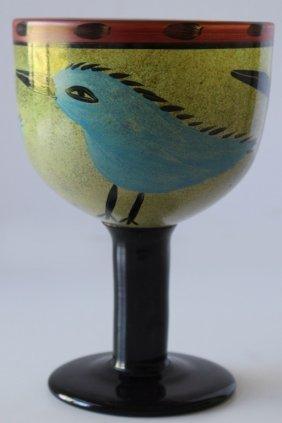 Kosta Boda Ulrika Hydman Vallien Blue Bird Vase