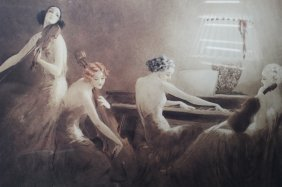 Louis Icart Print Titled 'melody Hour'