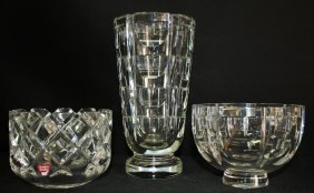 Three Crystal Glass Orrefors