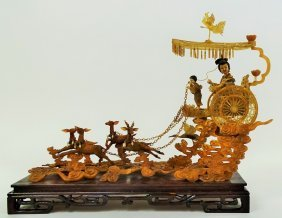 Vintage Decorative Chinese Rickshaw