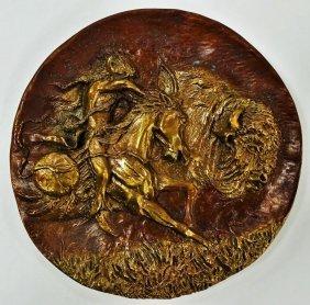 Bronze High Relief Plaque Gregory Perillo