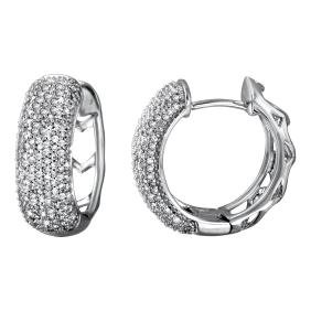 Genuine 1.05 TCW 14K White Gold Ladies Earring -
