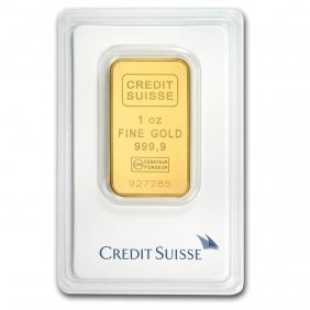One Pc. 1 Oz .9999 Fine Gold Bar - Credit Suisse In