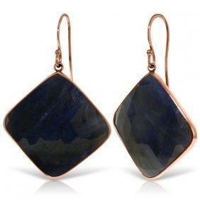 Genuine 43.5 Ctw Sapphire Earrings Jewelry 14kt Rose