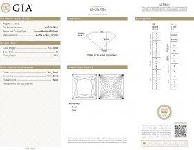 1.67ct G/vs1 Princess Cut Gia Certified Diamond