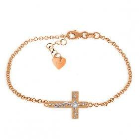 Genuine 0.05 Ctw Diamond Anniversary Bracelet Jewelry