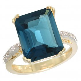 Natural 5.48 Ctw London-blue-topaz & Diamond Engagement