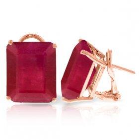 Genuine 15 Ctw Ruby Earrings Jewelry 14kt Rose Gold -