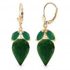 Genuine 26.8 Ctw Green Sapphire Corundum & Emerald