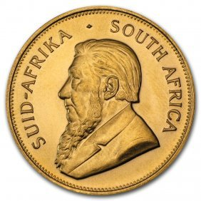 One Pc. South Africa 1 Oz .9167 Fine Gold Krugerrand
