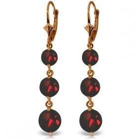 Genuine 7.2 Ctw Garnet Earrings Jewelry 14kt Rose Gold