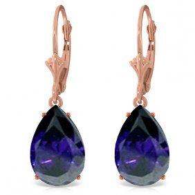 Genuine 9.3 Ctw Sapphire Earrings Jewelry 14kt Rose