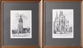 2 E. Sadoux Prints After Etchings