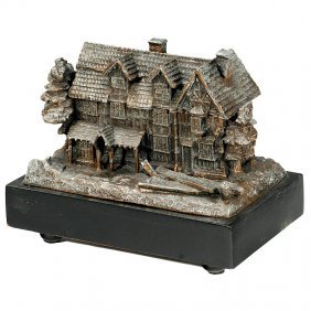 """Inkstand """"Shakespeare's House"""" With Musical Movemen"""