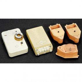 "2 Dictaphones ""Minifon"" And 3 Miniature Record Play"