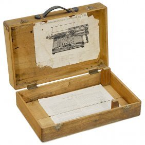 "Original Wooden Case For ""Th�rey"" Typewriter"
