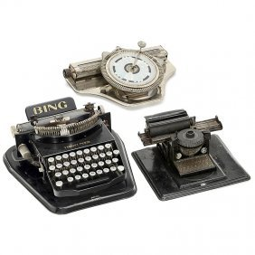 3 German Toy Typewriters