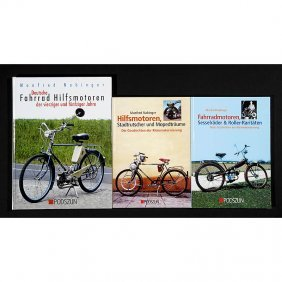"""3 Books """"Bicycles With Auxiliary Motor"""""""