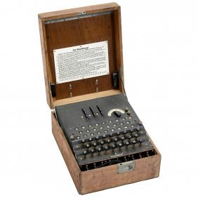 "Legendary German ""enigma"" Cyphering Machine, C. 1944"