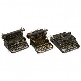 3 Portable Typewriters