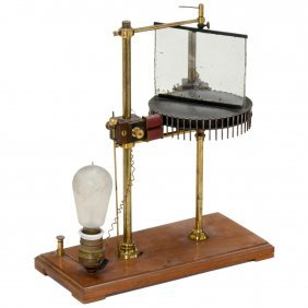 Electric Experimental Motor With Rotating Mirror, C.