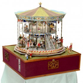 Coin-operated Fairground Carousel Automaton, 1985