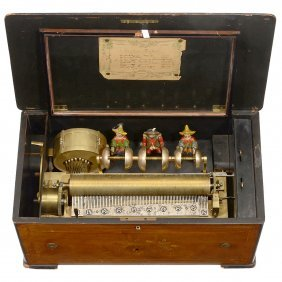 """""""tambour Et Timbres"""" Musical Box With Mandarin"""