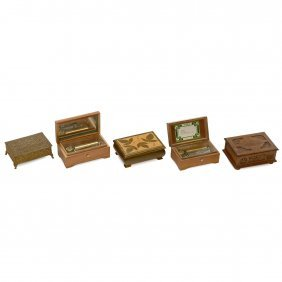5 Swiss Musical Boxes, 1930 Onwards