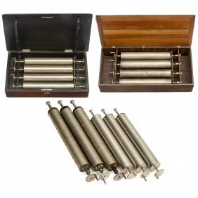 14 Interchangeable Cylinders For Swiss Musical Boxes,