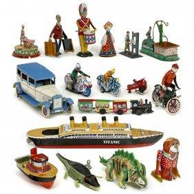 Group Of Tin Toys