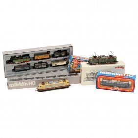 3 Märklin Locomotives And 1 Train Set, Gauge H0